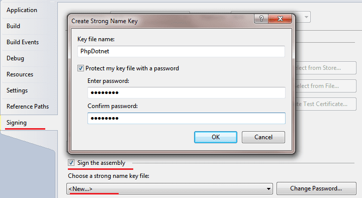 How to strongly name an assembly