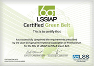 LSSIAP Certified Green Belt}